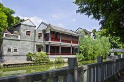 Замок в заливе Litchi Гуанчжоу, Китая Стоковая Фотография