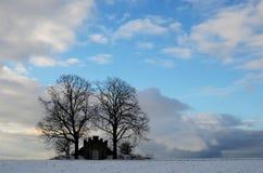 Замок в зиме Стоковые Изображения RF