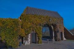 Замок в Кракове - главный вход Wawel, вход к, Польша Стоковая Фотография