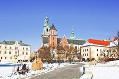 Замок в Кракове, Польша Wawel Стоковое Изображение