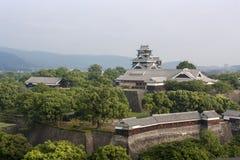 Замок в Кюсю, Япония Kumamoto Стоковое Изображение RF