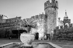 Замок в Лацие, Италии стоковое фото