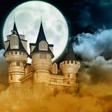 Замок в ноче Стоковое Изображение
