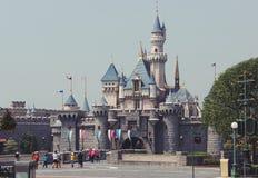 Замок в парке Диснейленда занятности, Гонконге - 20-ое сентября 2014 стоковое изображение rf