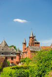 Замок в румян la Collonges стоковое фото