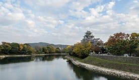 Замок в сезоне осени, Okayama Okayama, Япония Стоковые Изображения