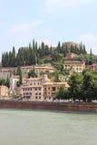 Замок в середине Вероны Италии Стоковые Изображения RF