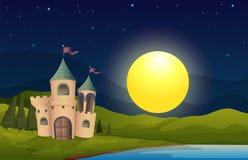 Замок в середине холма бесплатная иллюстрация