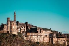 Замок в Эдинбурге, Шотландии, Великобритании стоковые изображения rf