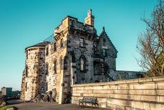 Замок в Эдинбурге, Шотландии, Великобритании стоковые фото