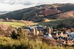 Замок в Эдинбурге, Шотландии стоковые фото