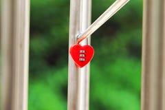 Замок влюбленности Стоковое фото RF