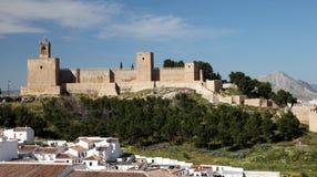 Замок в Antequera, Испании Стоковая Фотография