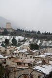 Замок в Assisi Италии Стоковые Изображения