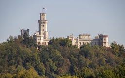 Замок в Hluboka nad Vltavou, чехии стоковое фото rf