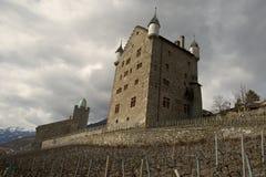 Замок в Leuk Стоковое Изображение RF
