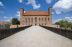 Замок в Lidzbark Warminski стоковая фотография