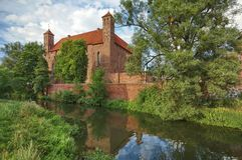 Замок в Lidzbark Warminski стоковые изображения