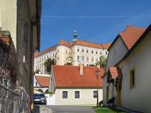 Замок в Mikulov стоковые изображения