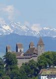 Замок в Rapperswil, около Цюриха Стоковое Изображение