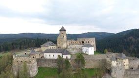Замок в Stara Lubovna сток-видео