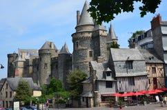 Замок в Vire в Нормандии (Франции) в июле 2014 стоковая фотография rf