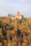 Замок в Walbrzych-Ksiaz Стоковые Изображения RF