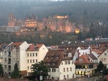 Замок, Гейдельберг Германия Стоковые Фото