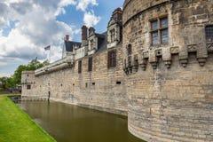 Замок герцогов Бретани (des Ducs de Бретаня) I замка Стоковое Изображение RF