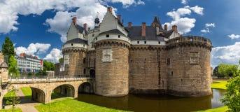 Замок герцогов Бретани (des Ducs de Бретаня) I замка Стоковое Изображение