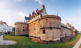 Замок герцогов Бретани (des Ducs de Бретаня) I замка Стоковое фото RF
