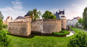 Замок герцогов Бретани (des Ducs de Бретаня) I замка Стоковые Изображения