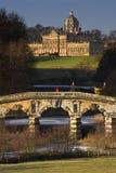 Замок Говард в северном Yorkshire - Англии Стоковые Изображения