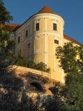 Замок города Mikulov чехии Стоковое фото RF
