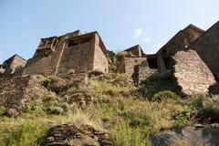 Замок городка Shatili Стоковые Фотографии RF