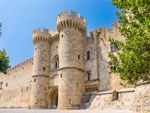 Замок Греция Европа Родоса Стоковое Фото