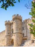 Замок Греция Европа Родоса Стоковое Изображение