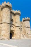 Замок Греция Европа Родоса Стоковая Фотография