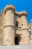 Замок Греция Европа Родоса Стоковые Изображения