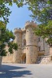 Замок Греция Европа Родоса Стоковое фото RF