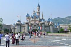 Замок Диснейленда, Гонконг Стоковое Изображение