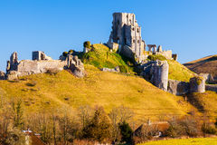 Замок Дорсет Англия Corfe стоковое фото