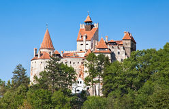 Замок Дракула - замок отрубей в Трансильвании, Румыния Стоковая Фотография RF