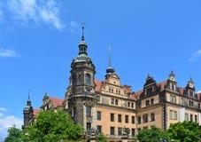 Замок Дрездена, взгляд на зеленом своде Стоковые Фотографии RF