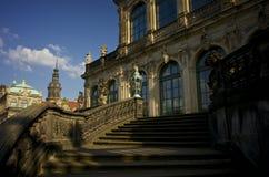 Замок Дрездена на красивый ясный день Стоковые Фотографии RF