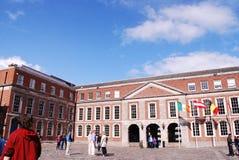 Замок Дублина, главная туристическая достопримечательность стоковые изображения