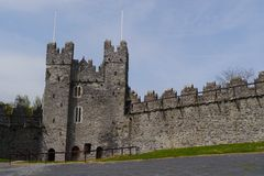 Замок Дублин Ирландия шпаг Стоковые Изображения