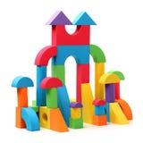 Замок игрушки стоковые изображения rf