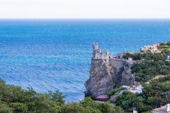 замок известный около добра yalta ласточки гнездя s Стоковые Фото