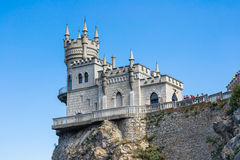 замок известный около добра yalta ласточки гнездя s Стоковая Фотография